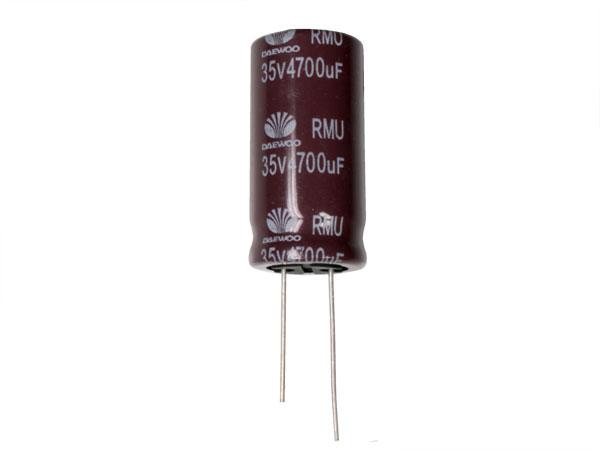 CONDENSADOR ELECTROLITICO RADIAL 4700UF - 35V 105ºC