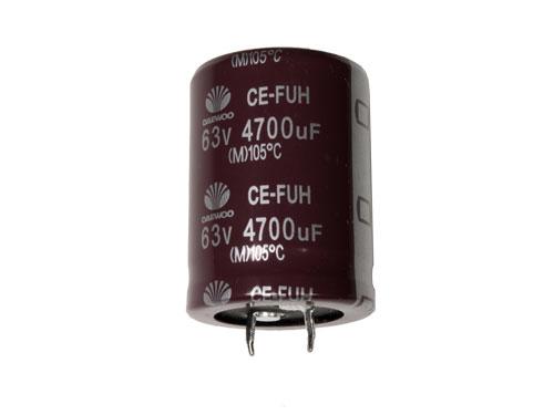 CONDENSADOR ELECTROLITICO RADIAL 4700UF - 63V 105ºC