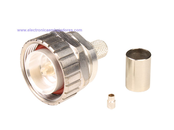 7/16 DIN Male Straight Cable-Mount Connector - RG213 Cable