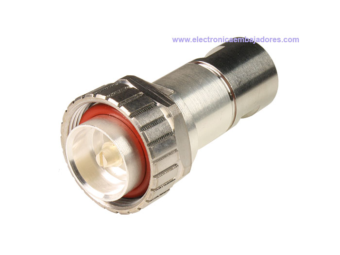 7/16 DIN male straight cable-mount connector - ½