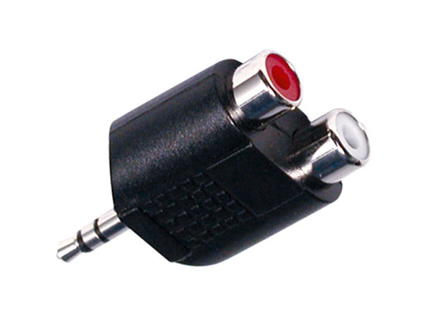 3.5 Mono Jack Male to 2 Female RCA Adapter