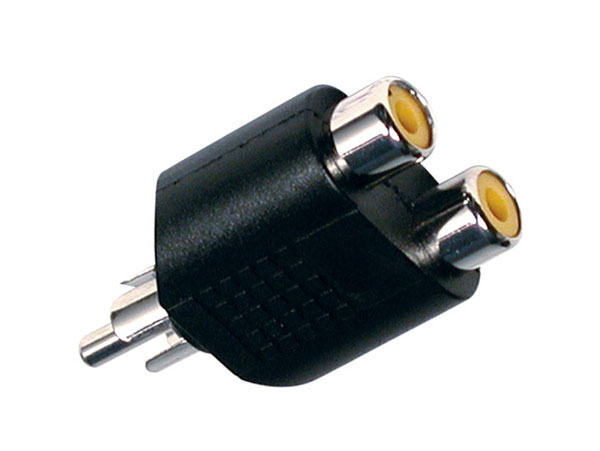 Male RCA to 2 x Female RCA Adapter