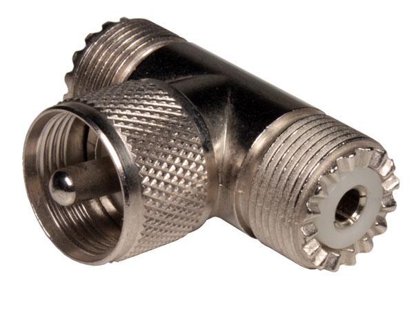 Adaptateur UHF Mâle - 2 UHF Femelle
