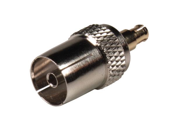 Adaptador Antena 9,5 mm Fêmea - MCX Macho