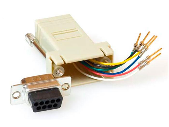 D-sub 9 Pin Male to RJ45 Adaptor - TD09M8