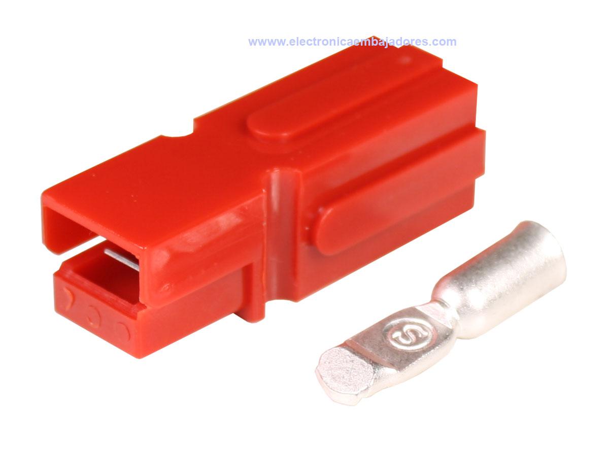 Conector Tipo Anderson® Powerpole® PP180 - Rojo - AWG2