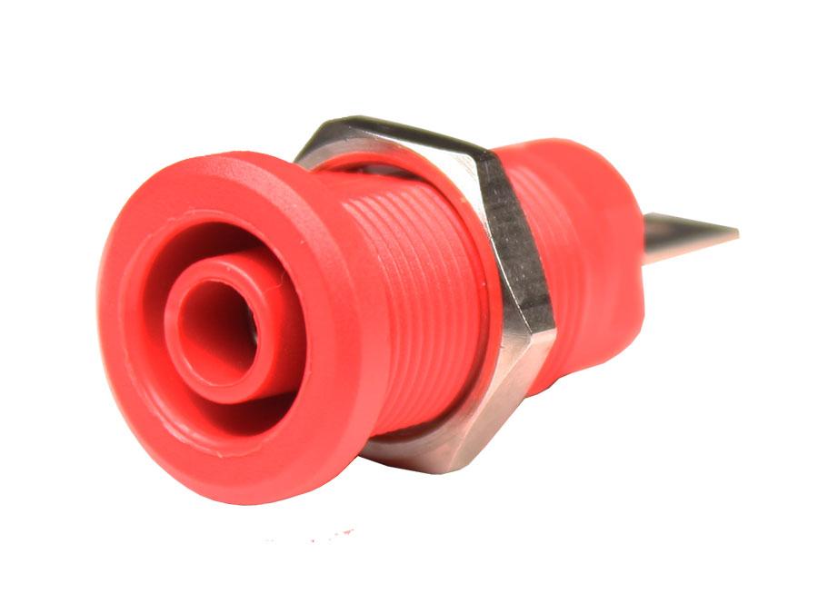 Alvéolo 4 mm Segurança - Vermelho - CM17R