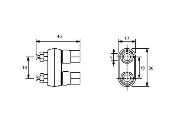 Hembrilla 4 mm Doble - Roja y Negra - BR402RN