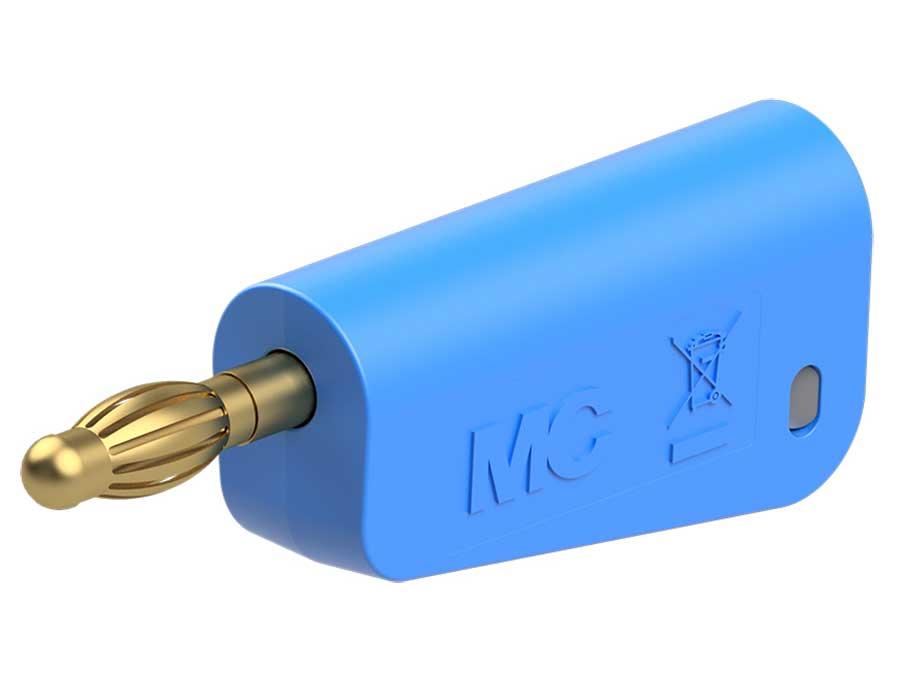 MULTI-CONTACT SLS425-SW 22-2667-23 - Banane mâle 4 mm de sécurité - bleu
