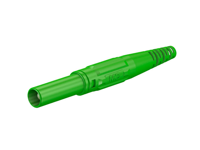 MULTI-CONTACT XL-410 66.9196-25 - BANANA MACHO DE 4MM DE SEGURIDAD - VERDE