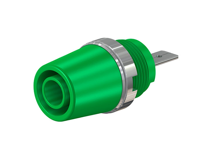 MULTI-CONTACT SAB4-F/A 23.3110-25 - HEMBRILLA DE 4MM DE SEGURIDAD - VERDE
