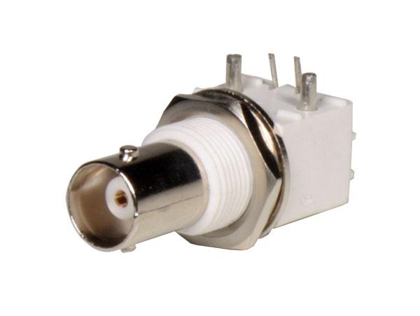 Conector BNC Base Acodado Hembra Circuito Impreso