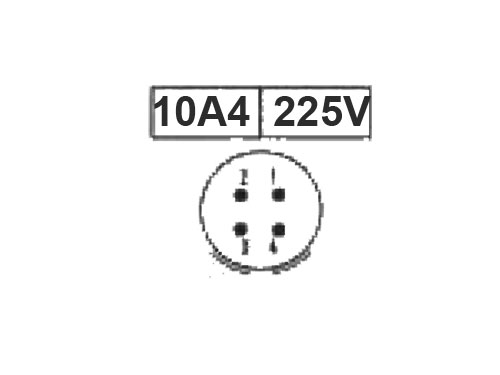 BM10A4 (920214VP) - 4 contacts female receptacle size 10 circular connector