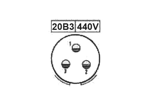 PHER20B3 (C920123CS) - 3 contacts male size 20 in-line mount circular connector