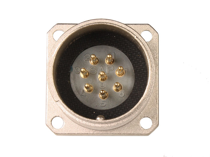 BM20B8 (920228TP) - 8 contacts male receptacle size 20 circular connector