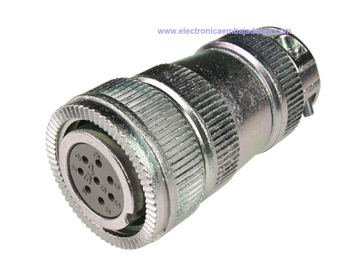 FHR20B8 (920628TS) - 8 contacts female size 20 in-line mount circular connector