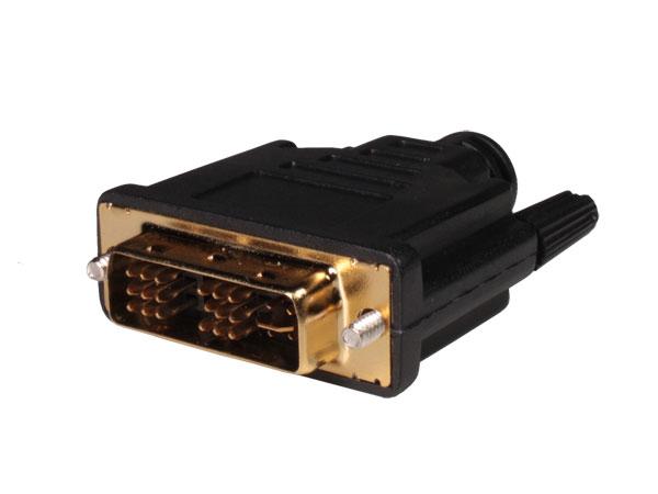 Connecteur DVI Fiche Mâle Droit 18+5
