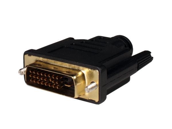 CONECTOR DVI AEREO RECTO MACHO 24+1