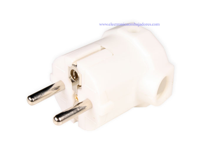 SIMON BRICO - Electric Plug - Male - SCHUKO - Side Entry - White - CL407401