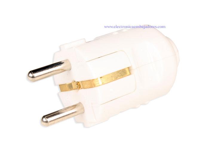 SIMON BRICO - Electric Plug - Male - SCHUKO - In-Line - White - CL407500