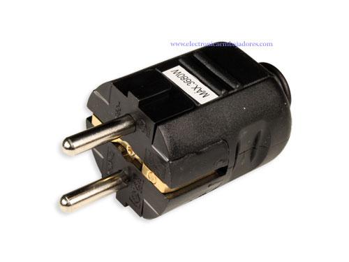 SIMON BRICO - Electric Plug - Male - SCHUKO - In-Line - Black - CL407517