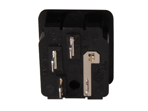 Conector IEC 60320 C14 Chasis Macho con Portafusible