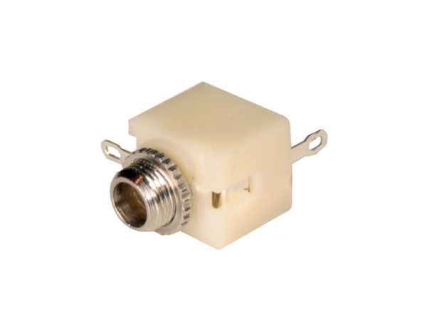 3.5 mm 2 pole panel-mount female jack connector closed