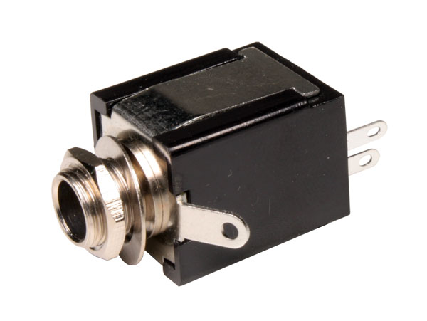 6.3 mm Jack Socket - 2 Pole Panel-Mount Female Closed - 15.440/MO