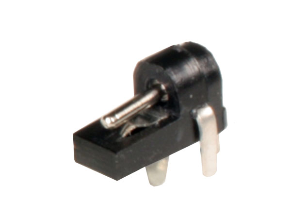 3.4 mm - 1.3 mm female power plug jack connector - printed circuit board mount