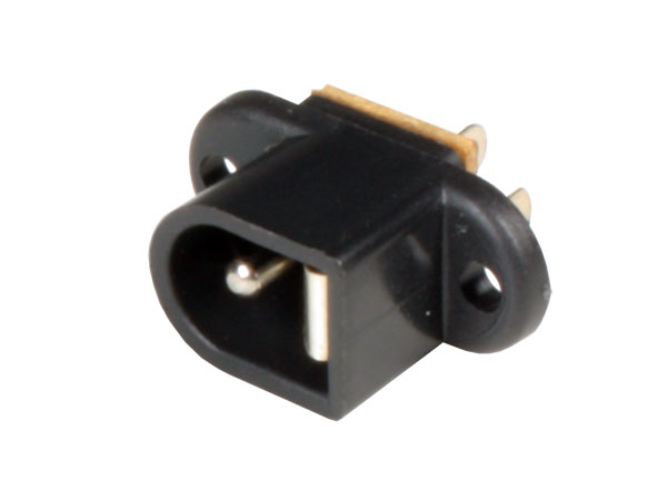 Conector Jack Alimentación Hembra Chasis 5,5 mm - 2,1 mm - Tornillo
