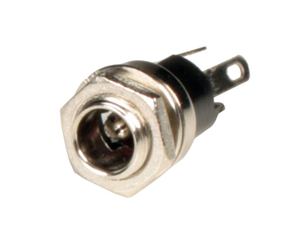 5.5 mm - 2.1 mm Chassis Panel-Mount Female Power Plug - Nut