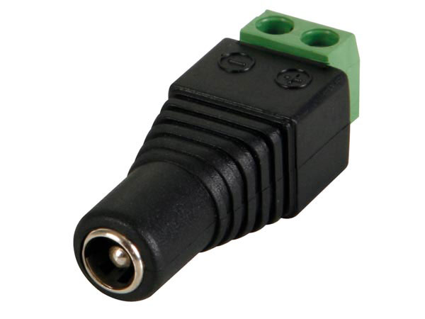 5.5 mm - 2.5 mm Jack Plug - Female Power Plug - Screw - 161.0628.11