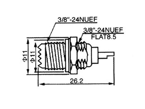 Conector mini-UHF Base Hembra Soldar - CUHFM11