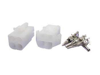 Ensemble Connecteur Multifonction 6,2 mm - 2 x 2 Bornes - Fiches Mâle et Femelle - WTWCS2X2