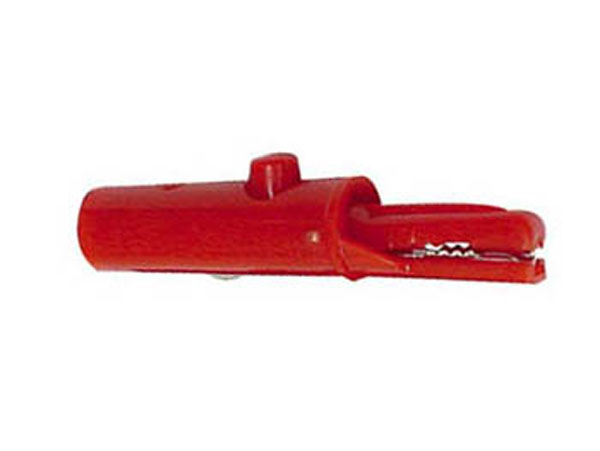 Pince Crocodile Prise Banane 4 mm - Rouge - CM18R