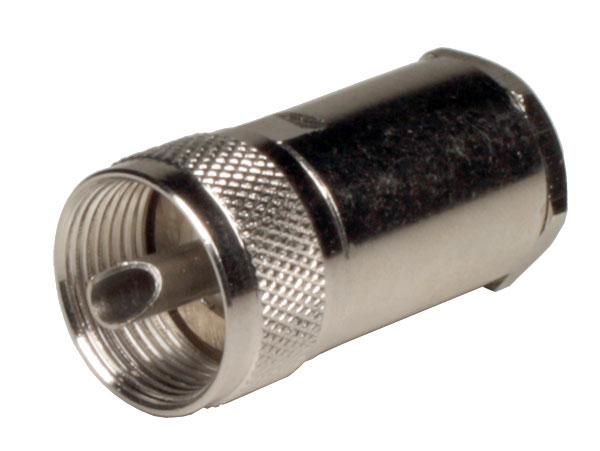 CONECTOR UHF AEREO RECTO MACHO SOLDAR RG58