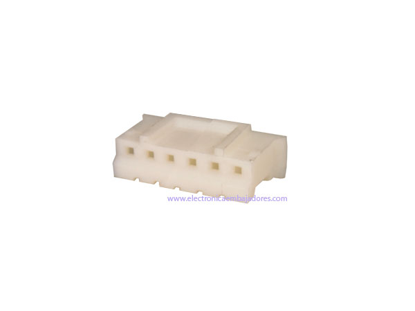 Connecteur à Carte - Boîtier Femelle Fiche 2,00 mm - 6 Pôles