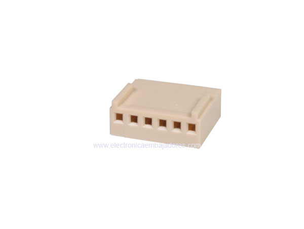 2.54 mm Cable-Mount Female Header Connector - 6 Pins - CO3406ECO