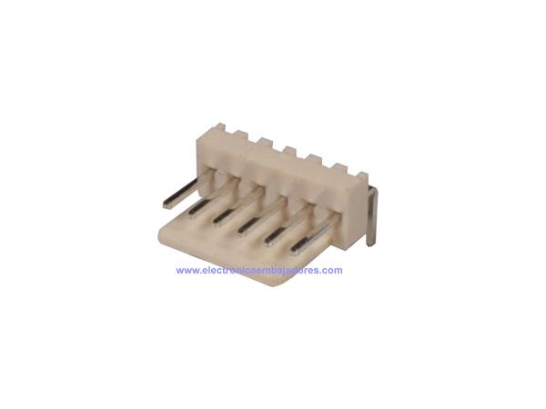 Connecteur à Carte - 2,54 mm Mâle Coudé - 6 Pôles