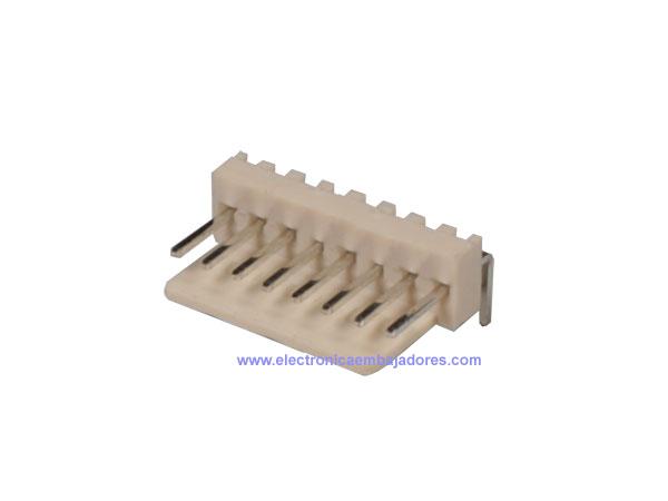 Conector Poste 2,54 mm Macho Acodado - 8 Contactos - CO3508