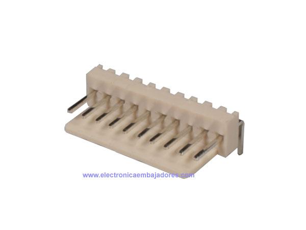 Conector Poste 2,54 mm Macho Acodado - 10 Contactos - CO3310
