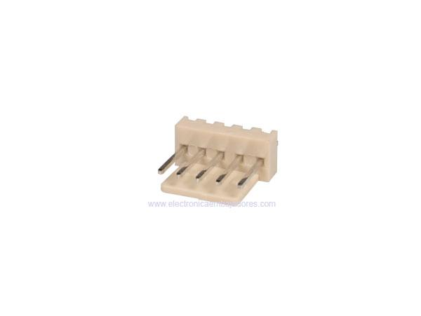 Conector Poste 2,54 mm Macho Recto - 5 Contactos - CO3305