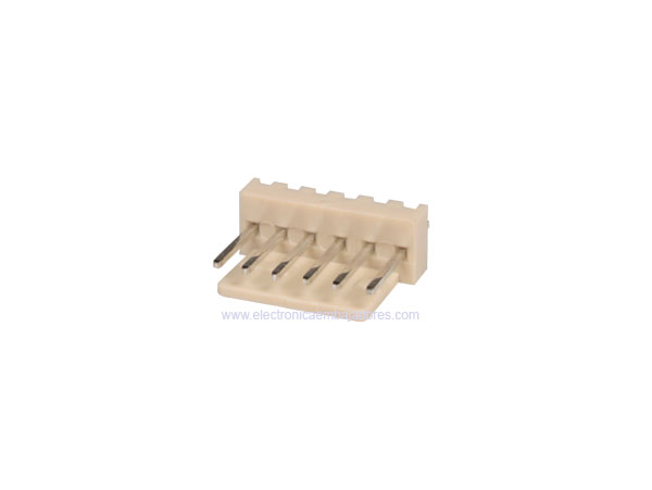 2.54 mm Straight-Mount Male Header Connector - 6 Pins - CO3306