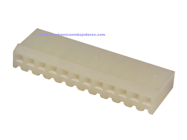 3.96 mm Cable-Mount Female Header Connector - 12 Pins - CO32212
