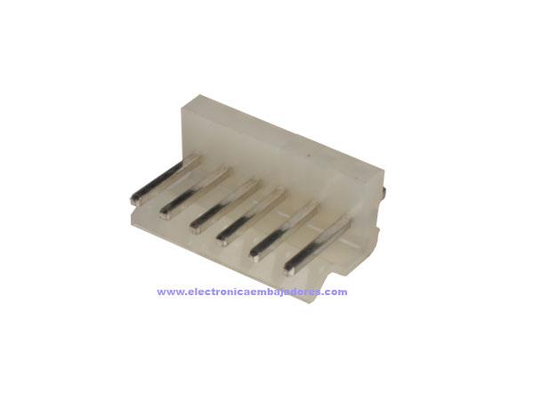 Conector Poste 3,96 mm Macho Recto - 6 Contactos - CO32006