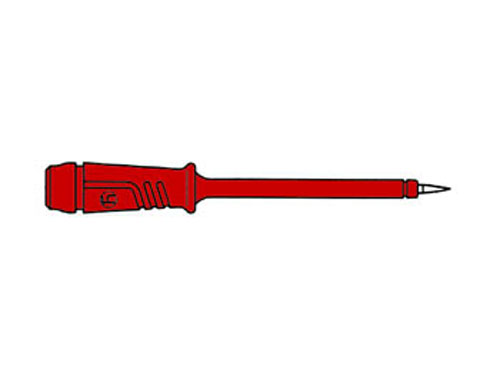 Red 4 mm Banana Test Probe - Insulated Shaft - HM5410
