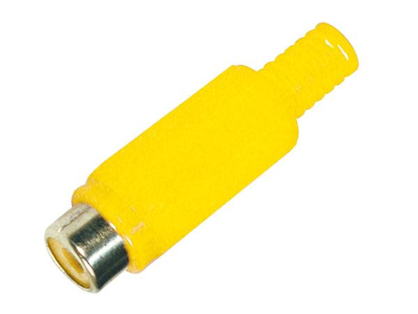 Fiche RCA Femelle Droite Plastique - Jaune - 10.589/DH/A