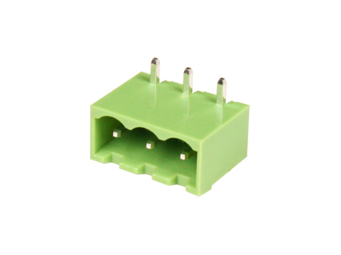 5.08 mm Pitch - Pluggable Right Angle Closed Male Terminal Block - 3 Contacts