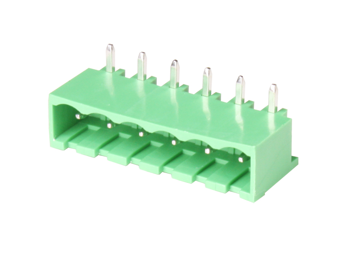 5.08 mm pitch - pluggable right angle closed male terminal block - 6 contacts - 2EDGRC5.08-6P14