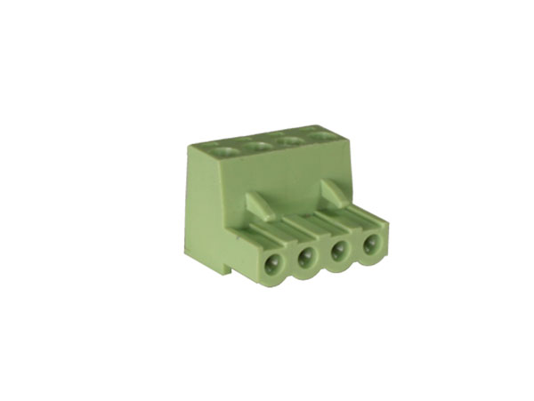 5.00 mm pitch - pluggable right angle female terminal block - 4 contacts